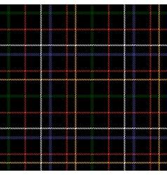 Black checkered tartan seamless fabric texture vector
