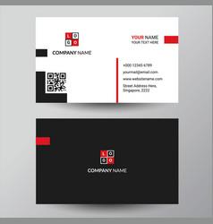 Black elegant corporate business card design vector