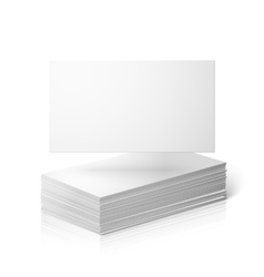 Blank business cards template isolated on vector