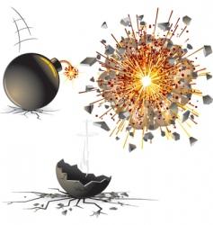 bomb explosion vector image