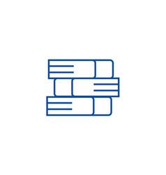 books line icon concept books flat symbol vector image