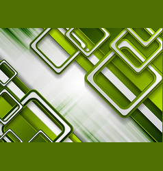 bright green geometric technology background vector image