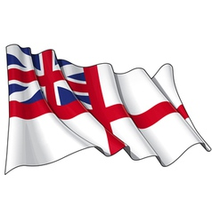 British Navy Flag 1606 1801 The Kings Colours vector