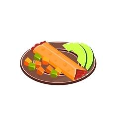 Burrito On Plate vector