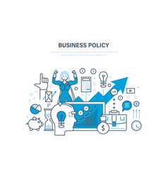 Business policy aimed at increasing sales growth vector