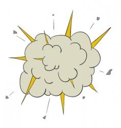 cartoon explosion vector image