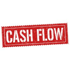 Cash flow sign or stamp vector
