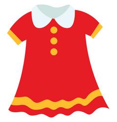 Child dress on white background vector