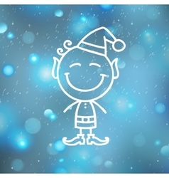 Christmas angel on blurred backround vector