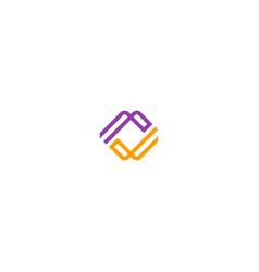 Circle line abstract logo vector