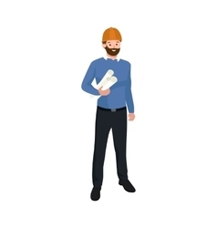 Civil engineer architect or construction worker vector