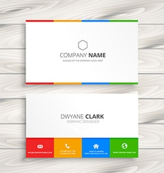 Clean white business card vector