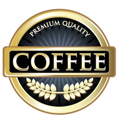 Coffee black premium quality label vector
