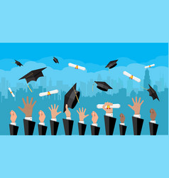 concept of education college university ceremony vector image