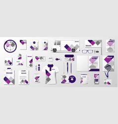 Corporate branding identity template design vector