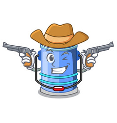 Cowboy cylinder bucket cartoon of for liquid vector