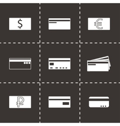 credit card icons set vector image