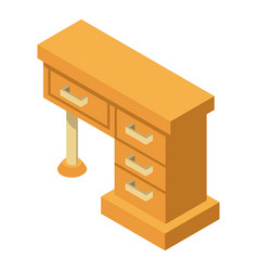 desk icon isometric style vector image