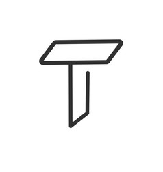elegant initial letter t logo line unique modern vector image