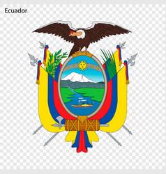 Emblem ecuador vector