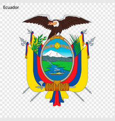 Emblem of ecuador vector