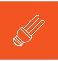 Energy saving light bulb line icon vector image