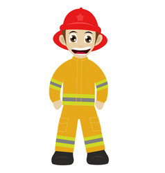 firefighter mascot vector image