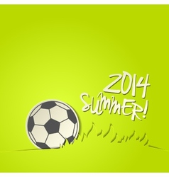 Football 2014 ball background vector image