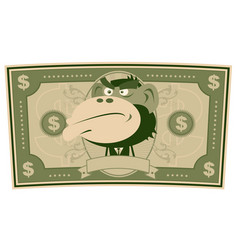 Funny money - cartoon us dollar vector