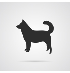 Gray Silhouette of Dog vector