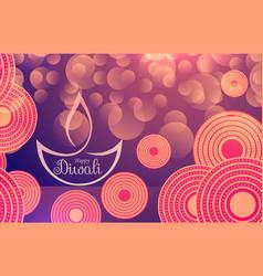 Happy diwali festival banner vector