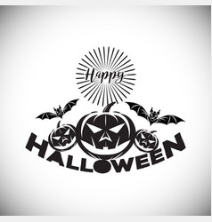 Happy halloween logo icon design vector
