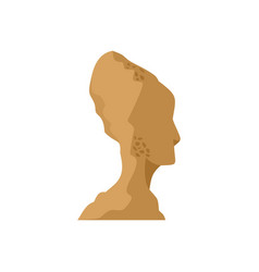 head of statue icon flat style vector image