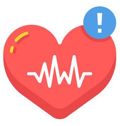 High heart rate flat vector