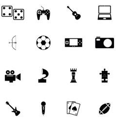hobby icon set vector image