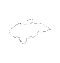 Honduras map silhouette vector