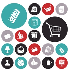 icons for business and commerce vector image