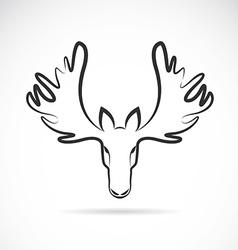 Images of moose deer head vector