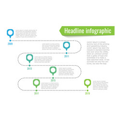 Infographic path dotted line 6 points blue and vector