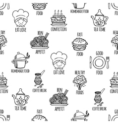 Kitchen tools seamless pattern vector