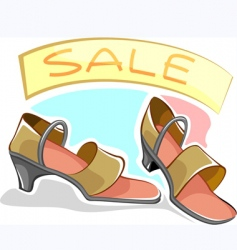 lady shoe vector image