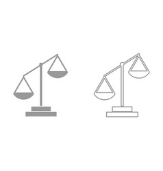 law scale it is black icon vector image