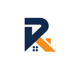 Letter r with roofing style vector