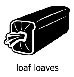 Loaf loaves icon simple black style vector