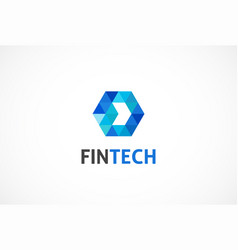 Logo concept for fintech industry vector