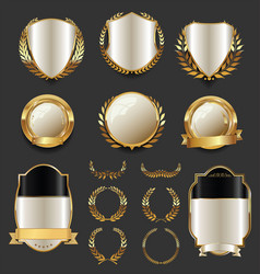 Luxury golden labels retro vintage collection 4 vector