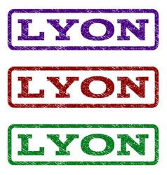 Lyon watermark stamp vector
