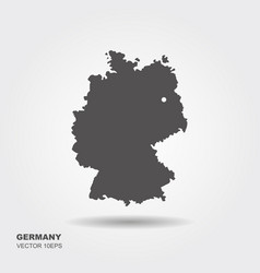 map of germany on white background vector image