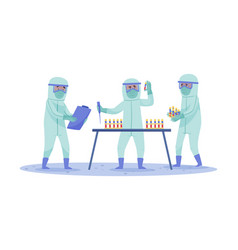 medical staff in protective suits and masks vector image