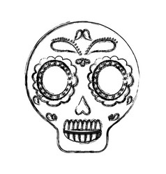 Mexican skull icon vector